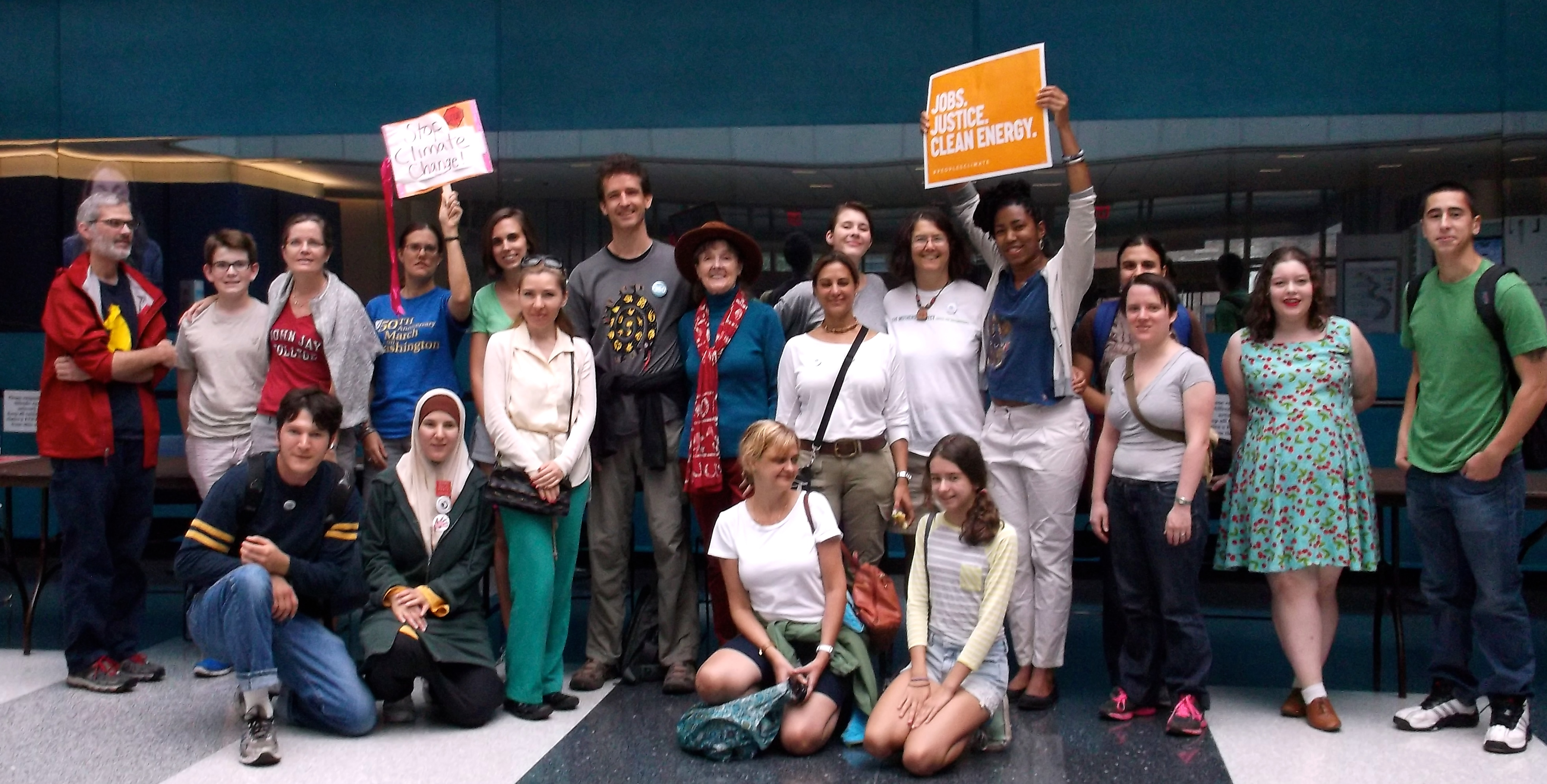 John Jay students, staff, and faculty help make history at the People's Climate March